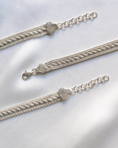 Sterling Silver Three-strand Bracelet