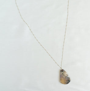 Sterling Silver Dark Marble Necklace