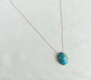 Sterling Silver Amazonite Gemstone Necklace