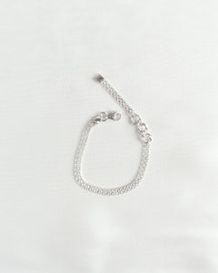 Sterling Silver Three Hoop Bracelet