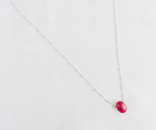 Load image into Gallery viewer, Sterling Silver Magenta Gemstone Necklace