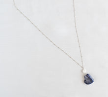 Load image into Gallery viewer, Sterling Silver Dark Gemstone Necklace