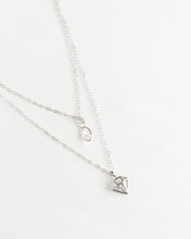 Load image into Gallery viewer, Sterling Silver Diamond Crystal Necklace
