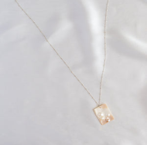 Sterling Silver Irregular Pearl Necklace