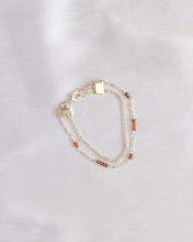 Load image into Gallery viewer, Sterling Silver Two-strand Maple Bracelet