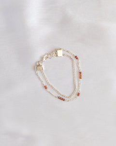 Sterling Silver Two-strand Maple Bracelet