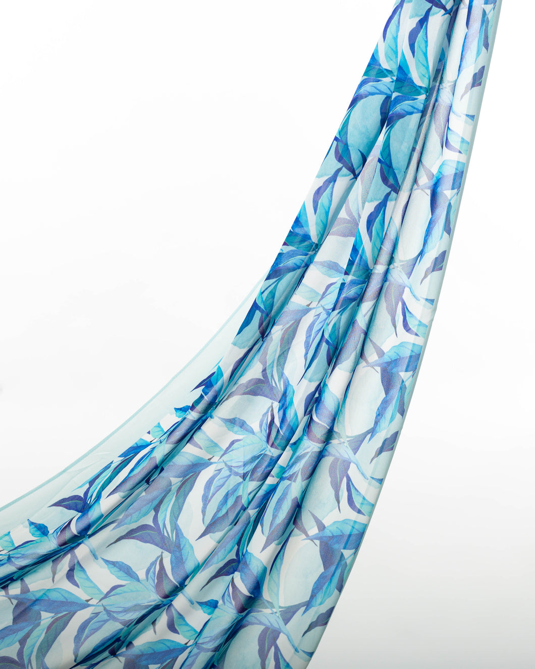 Summer Blues Chiffon Scarf