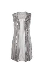 Load image into Gallery viewer, Silver Party Vest