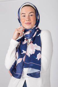 Royal Pink Silk Scarf
