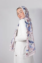 Load image into Gallery viewer, Cocoa Blue Silk Scarf