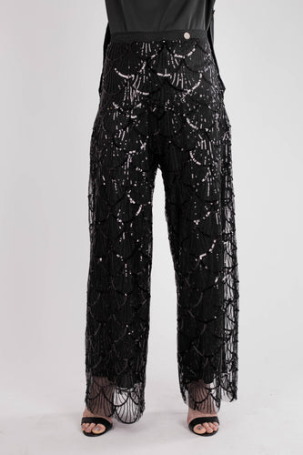 Black Paullete Party Pants