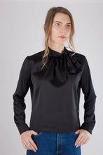 Load image into Gallery viewer, Black Satin Top