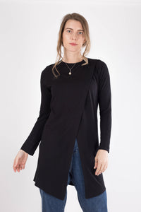 Black Criss-Cross Cotton Top