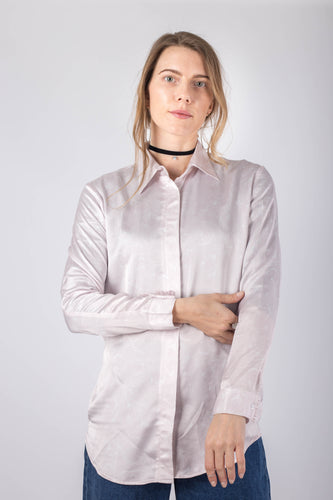 Blush Tulips Silk Shirt