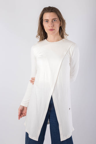 Off-white Criss-Cross Cotton Top