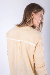 Yellow Striped Linen Shirt