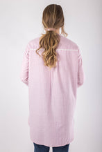 Load image into Gallery viewer, Pink Striped Linen Shirt