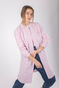 Pink Striped Linen Shirt