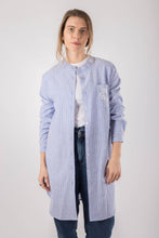 Load image into Gallery viewer, Blue Striped Linen Shirt