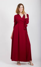 Load image into Gallery viewer, Dark Crimson Red Wrap Dress
