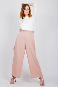 Pleated Blush Pants