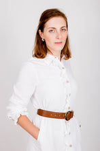 Load image into Gallery viewer, White Shirt-Dress