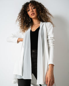 Off-white Chiffon-Cotton Cardigan