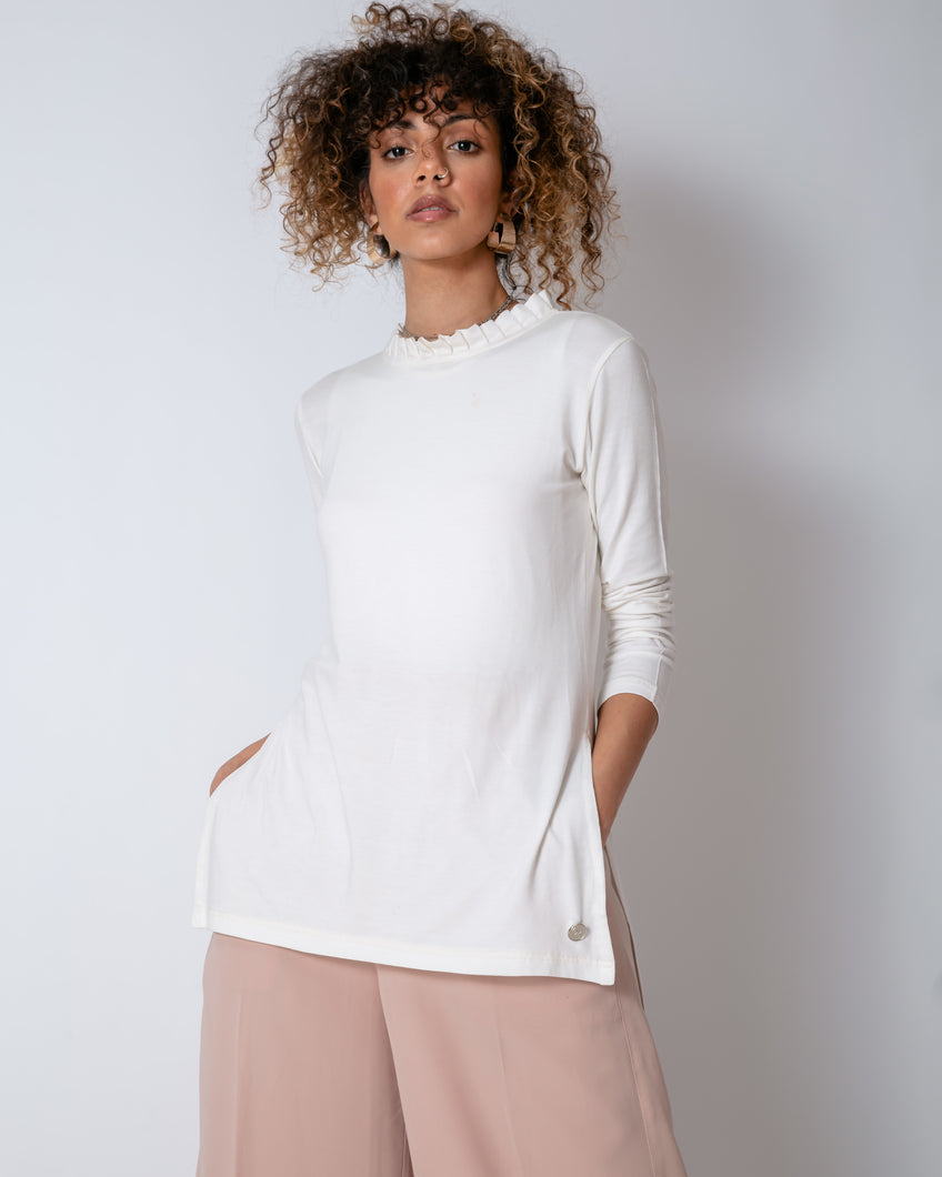 Basic Cream Cotton Top