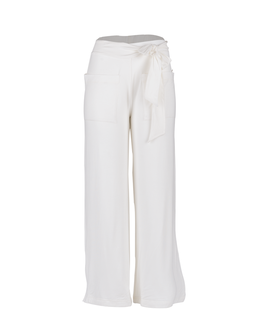 Off-white Pure Cotton Wide Leg Pants
