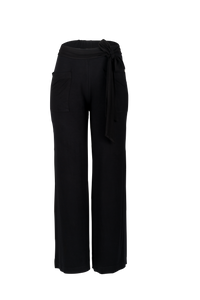 Black Pure Cotton Wide Leg Pants