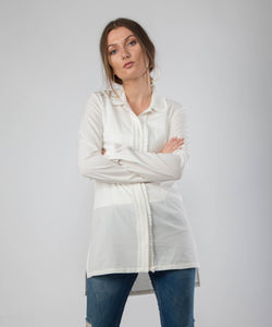 Pleated White Shirt