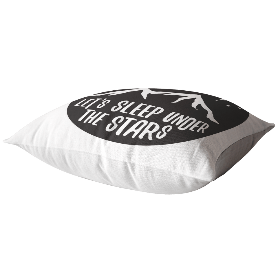 Let's Sleep Under The Stars Throw Pillow - Wild Lifestyle Adventures