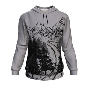 Hoodie - Forest Mountain Design Long Sleeve Hoody For Men and Women - Wild Lifestyle Adventures