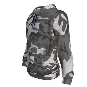 Hoodie - Camouflage Grey Green Camo Long Sleeve Hoody For Men and Women - Wild Lifestyle Adventures