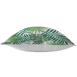 Painted Green Leafs Pillow - Wild Lifestyle Adventures