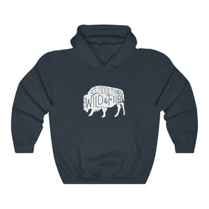 Hoodie - All Good Things Are Wild And Free Sleeve Hoody For Men and Women - Wild Lifestyle Adventures