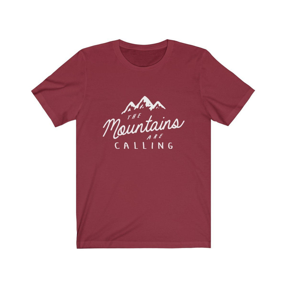 The Mountains Are Calling Unisex Short Sleeve T-shirt - Wild Lifestyle Adventures