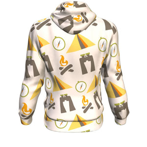 Hoodie - Camping Graphic Long Sleeve Hoody For Men and Women - Wild Lifestyle Adventures