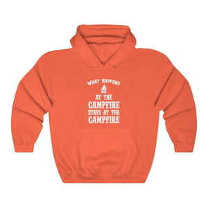 Hoodie - What Happens At The Campfire...Quote Long Sleeve Hoody For Men and Women - Wild Lifestyle Adventures