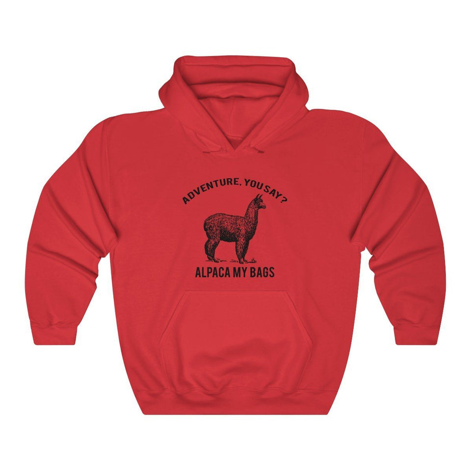 Hoodie - Alpaca My Bags Long Sleeve Hoody For Men and Women - Wild Lifestyle Adventures