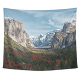 Yosemite Park Mountains Tapestry Wall Hanging - Wild Lifestyle Adventures