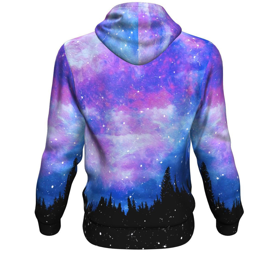 Hoodie - Forest Purple Sky Long Sleeve Hoody For Men and Women - Wild Lifestyle Adventures
