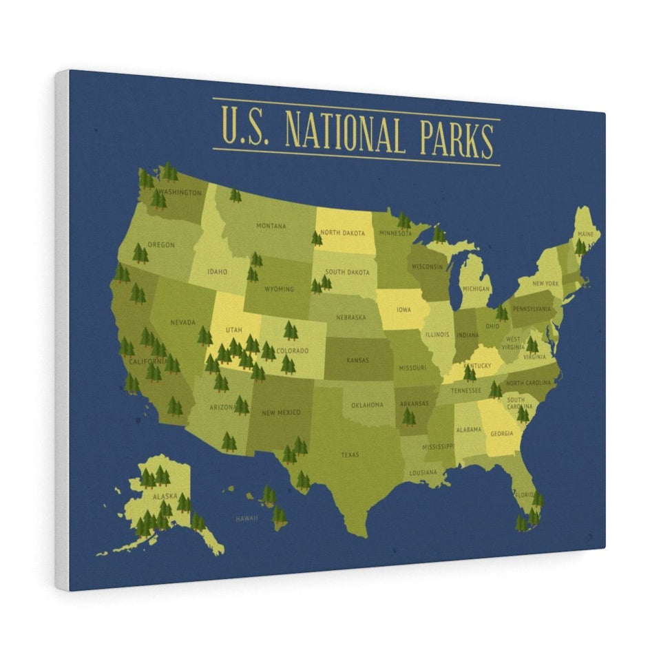Canvas United States National Parks Wall Art - Wild Lifestyle Adventures