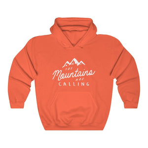 Hooded Sweatshirt - The Mountains Are Calling Long Sleeve Hoody For Men and Women - Wild Lifestyle Adventures