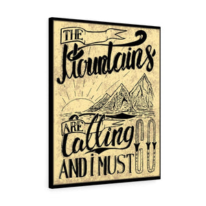 Canvas The Mountains Are Calling Wall Art - Wild Lifestyle Adventures
