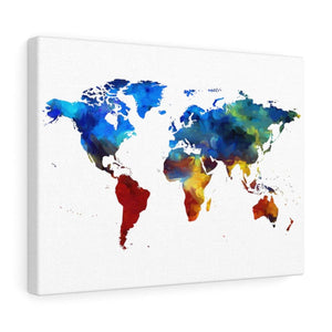 Canvas Colorful World Map Wall Art - Wild Lifestyle Adventures