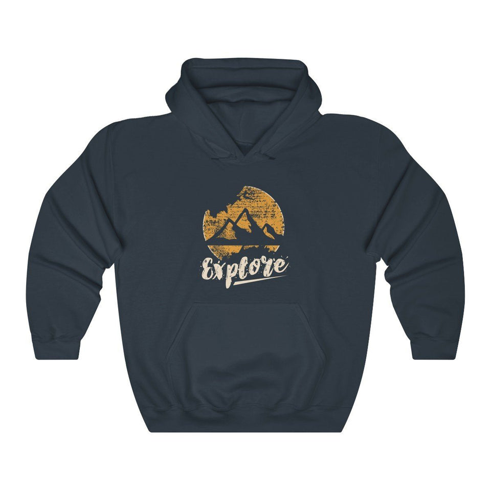 Hoodie - Explore Mountains Outdoors Long Sleeve Hoody For Men and Women - Wild Lifestyle Adventures