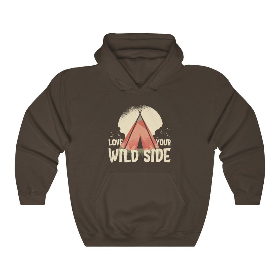 Hooded Sweatshirt - Love Your Wild Side Long Sleeve Hoody For Men and Women - Wild Lifestyle Adventures