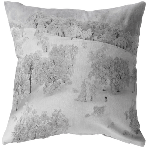 Winter Forest Landscape Throw Pillow - Wild Lifestyle Adventures