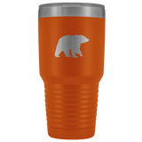 Bear Silhouette 30oz Stainless Steel Thermos Tumbler - Wild Lifestyle Adventures